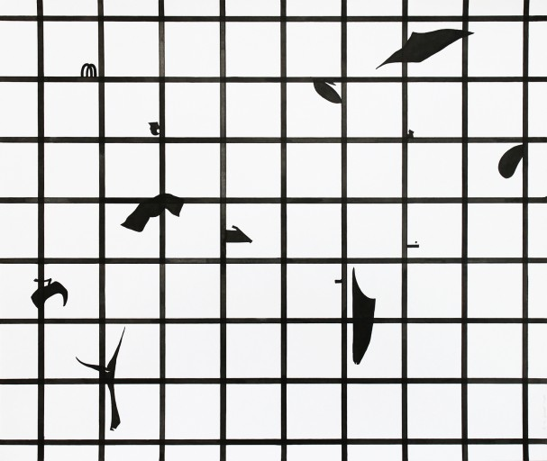 Composition02, encre sur papier, 42x49,8cm, 2014