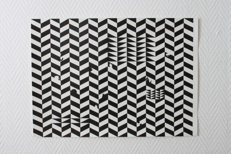 Essai, encre sur papier, 37.5x52.5, 2013