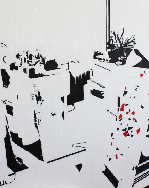 STUDIO15_C3, huile sur toile, 92x73cm, 2011