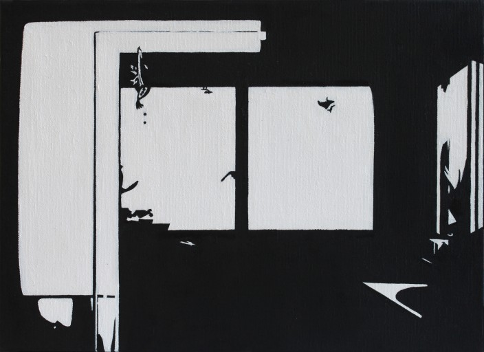 STUDIO15_C4, huile sur toile, 24x33cm, 2011