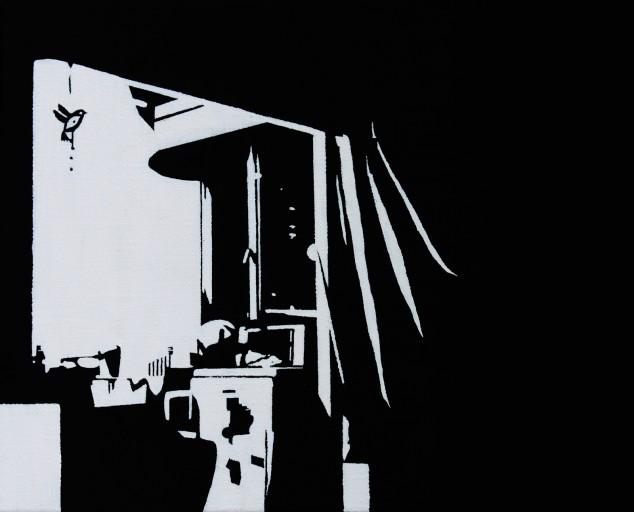 STUDIO15_C5, huile sur toile, 22x27cm, 2012