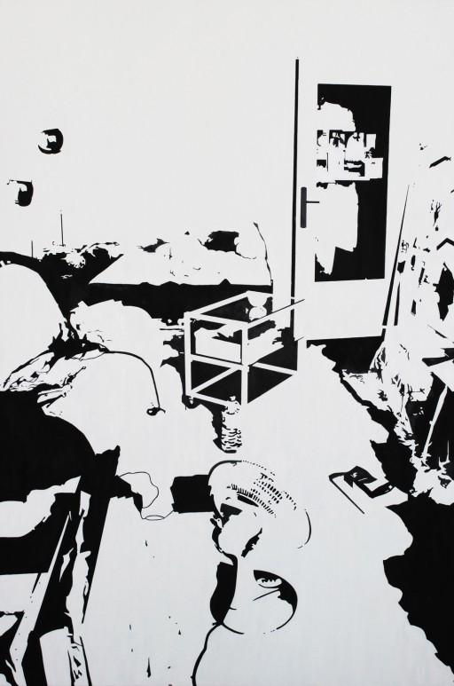STUDIO15_S1, huile sur toile, 146x97, 2012