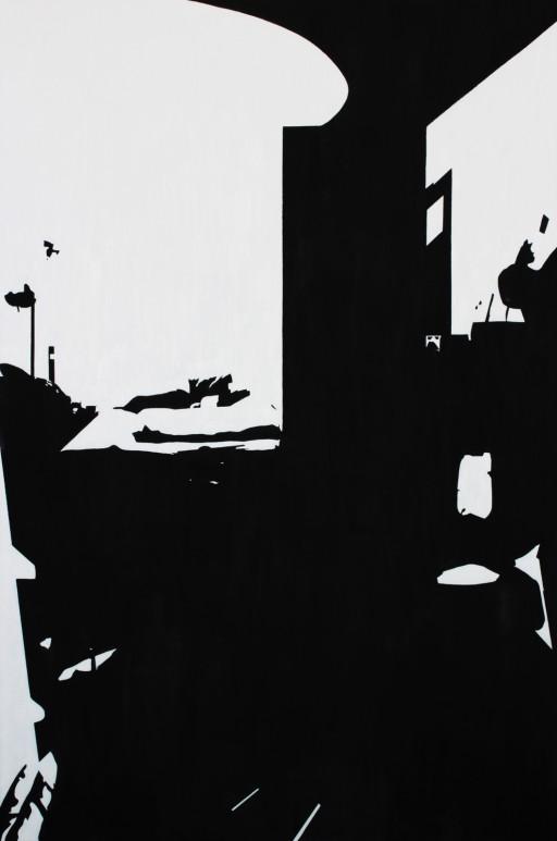 STUDIO15_S2, huile sur toile, 146x97cm, 2012