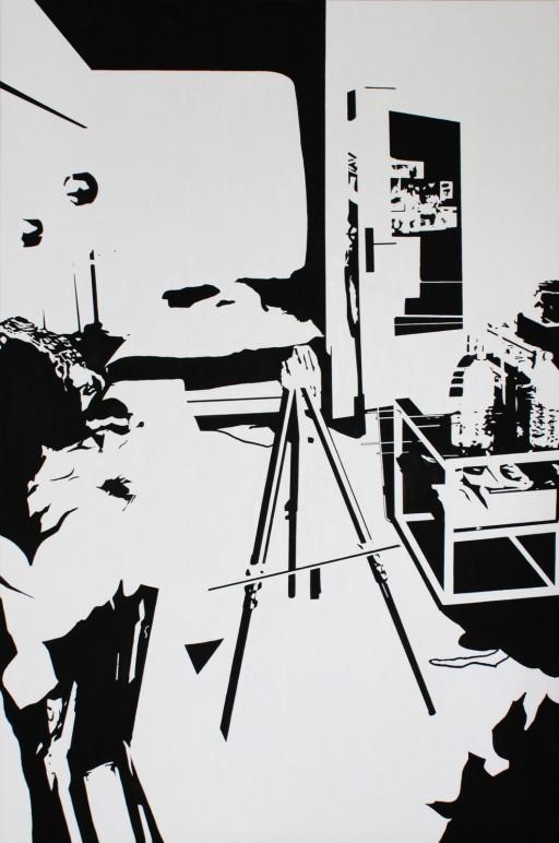 STUDIO15_S3, huile sur toile, 146x97cm, 2013