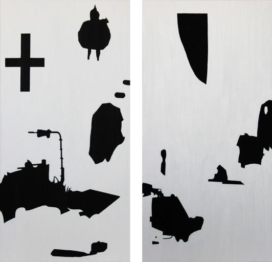 STUDIO15_J1 huile sur toile 80 x 40 cm 2012 STUDIO15_J2 huile sur toile 80 x 40 cm 2012