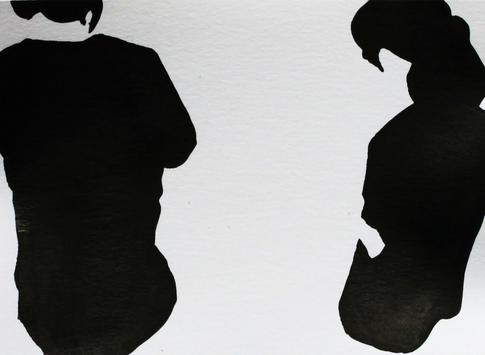 Fragments noirs, encre sur papier, 10x13,5cm, 2014
