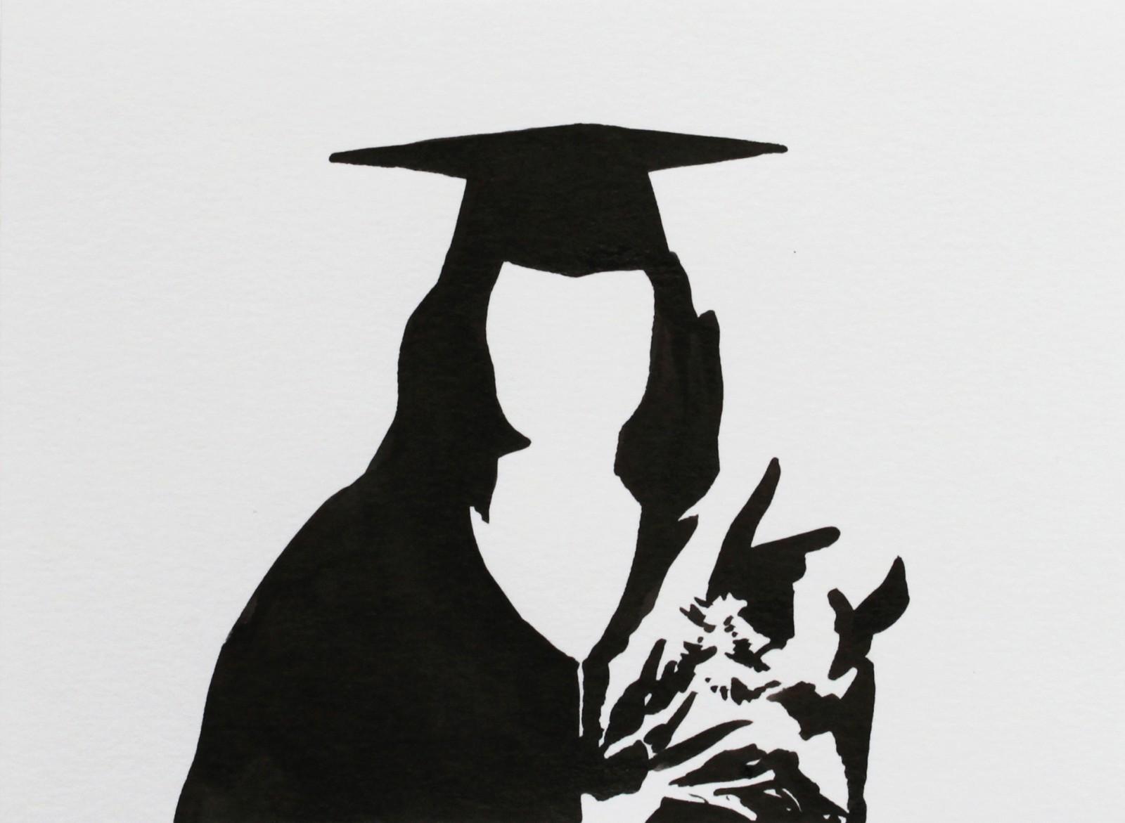 Fragments noirs, encre sur papier, 10x13,5cm, 2014, dessin