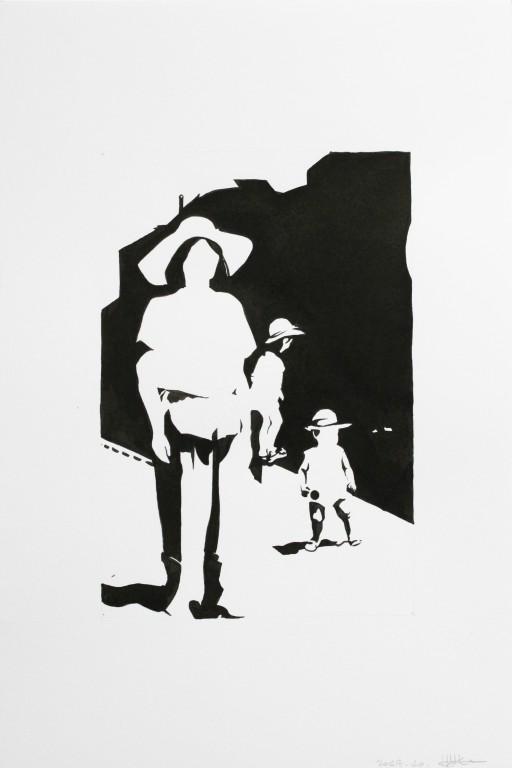 Fragments noirs, encre sur papier, 30x20cm, 2014