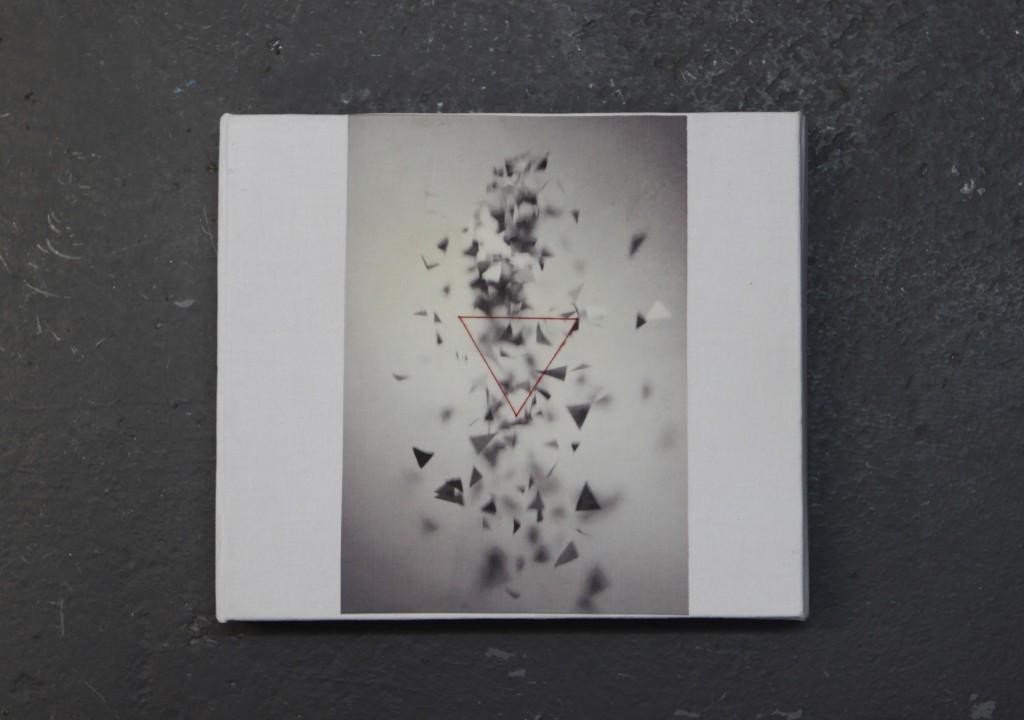 Reconstruction, broderie sur image imprimée (30 clichés), 22 x 19 x 3,5 cm, 2009