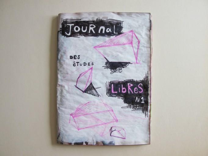 Journal des Etudes libres N1, acrylique, feutre, gesso sur journal, 36,5 x 26cm, 2010