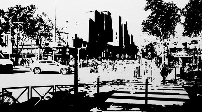 PARIS15_Place Charles Michels #05, 2015, acrylique sur toile, 73 x 92 cm