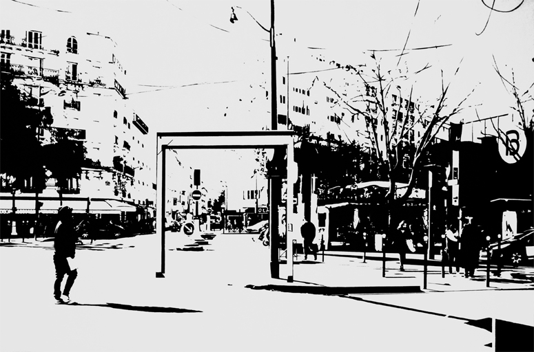 Intercity_PS #01, 2016, huile sur toile, 97 x 146 cm